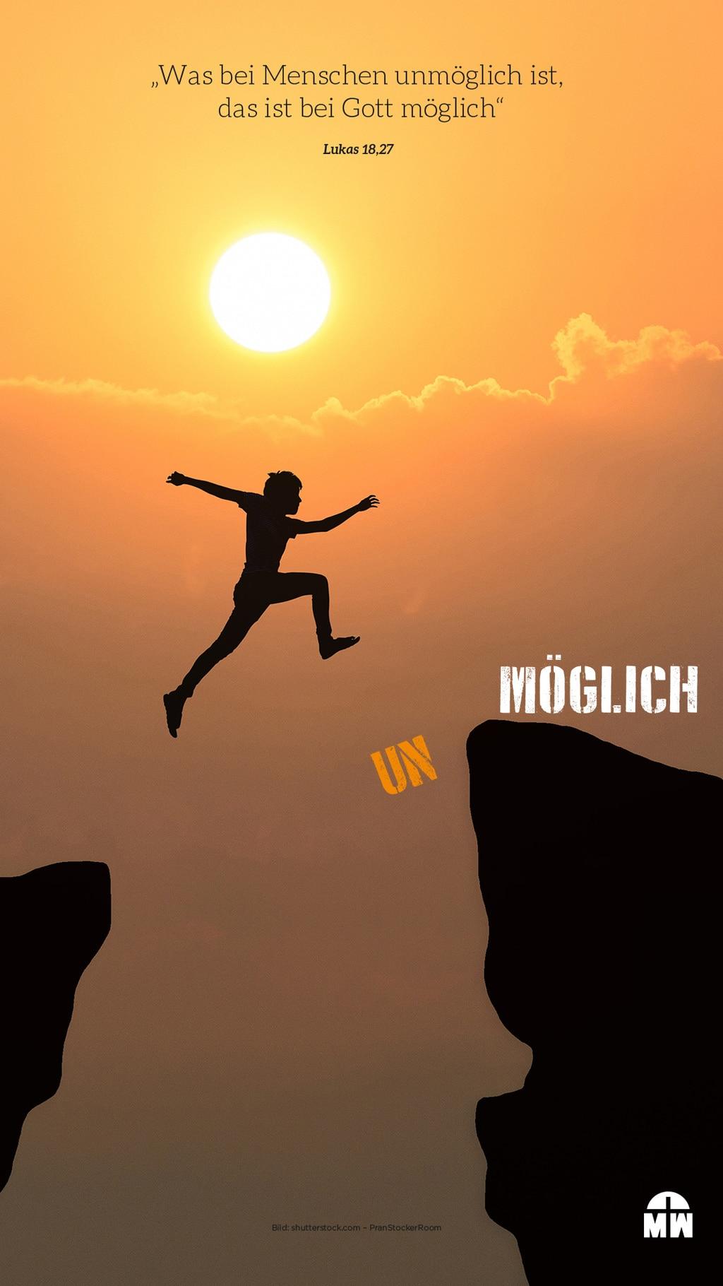 (UN)MÖGLICH - Hintergrundbild fürs Handy mit Vers