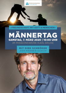 Flyer Männertag 2020 im Missionswerk Karlsruhe