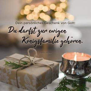 Missionswerk Karlsruhe Ermutigung der Woche Was packst du an Weihnachten aus Geschenk und Teelicht auf einem Tisch