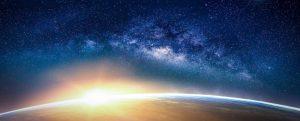 Erdball aus All-Perspektive Wie im Himmel so auf Erden