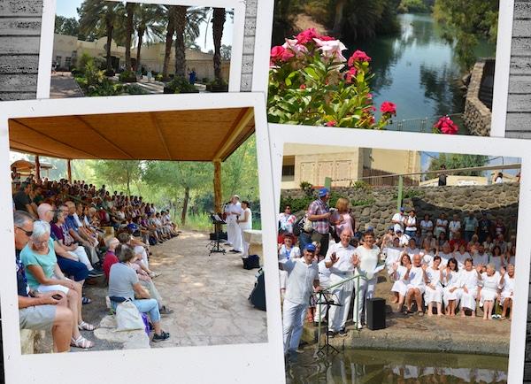 Taufe am Jordan Israel-Rundreise 2019 vom Missionswerk Karlsruhe Reisetagebuch Tag 6