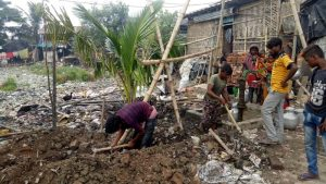 erste Arbeiten für den Biosandfilter vom Missionswerk Karslruhe in der Nähe von Kalkutta, Indien
