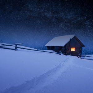 Haus in Winterlandschaft Lob- und Dankwoche Ermutigung der Woche Missionswerk Karlsruhe