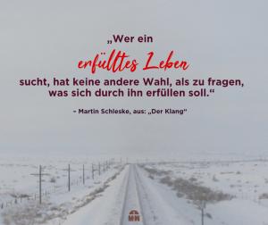 Schneebedeckte Gleise in Winterlandschaft Gott hat einen einzigartigen Plan mit dir Ermutigung der Woche Missionswerk Karlsruhe