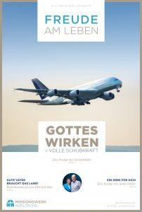 Startendes Flugzeug Gottes Wirken volle Schubkraft voraus Freude am Leben Magazin Missionswerk Karlsruhe