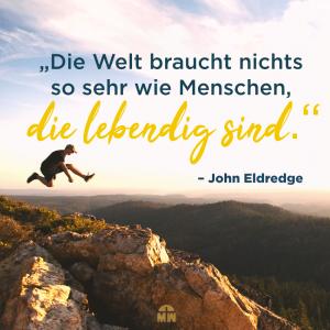 Ein Mann springt über eine Klippe Lebendig sein Ermutigung der Woche Missionswerk Karlsruhe