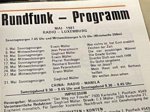 Rundfunk-Programm Missionswerk