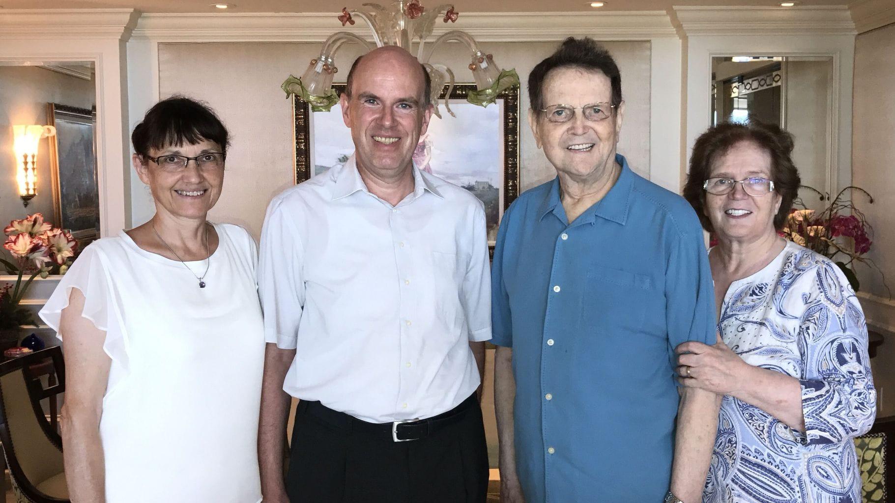 Isolde und Daniel Müller mit Reinhard und Anni Bonnke, 2018