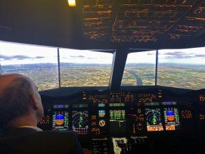 Daniel Müller im Flugsimulator