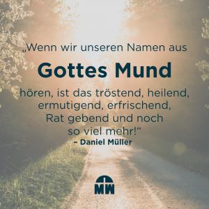 Sonne auf Waldweg Kennst du die Stimme die deinen Namen kennt Ermutigung der Woche Missionswerk Karlsruhe