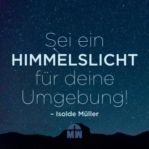 Sternenhimmel Himmelslichter in der Welt Ermutigung der Woche Missionswerk Karlsruhe
