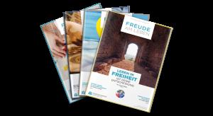 Magazinstapel Freude am Leben August 2020 Missionswerk Karlsruhe