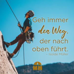 Kletterer an der Wand Welchen Weg nimmst du Ermutigung der Woche Missionswerk Karlsruhe