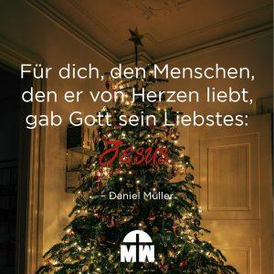 Geschmückter Tannenbaum Herzensgeschenke Ermutigung der Woche Missionswerk Karlsruhe