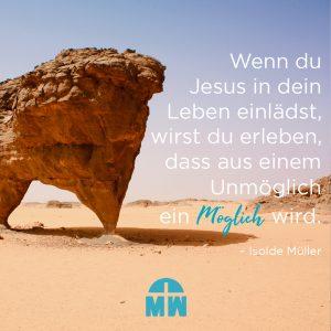 Felsen im Sand Die Nazareth-Mentalität Ermutigung der Woche Missionswerk Karlsruhe