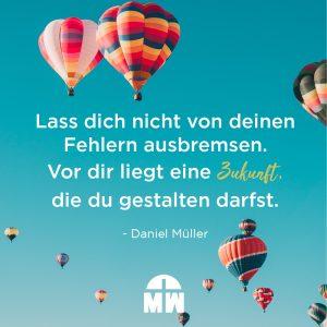 Heißluftballons am Himmel Baue deinen Fehlern kein Denkmal Ermutigung der Woche Missionswerk Karlsruhe
