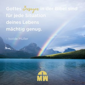 Regenbogen über einem Fjord Gottes Zusagen Ermutigung der Woche Missionswerk Karlsruhe