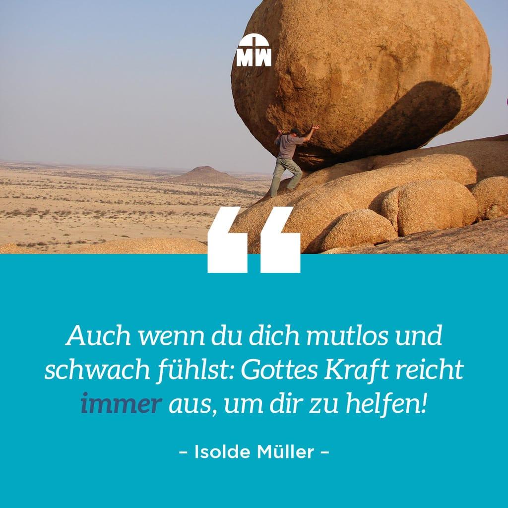 Felsen in der Würste von Kraft zu Kraft Ermutigung der Woche Missionswerk Karlsruhe